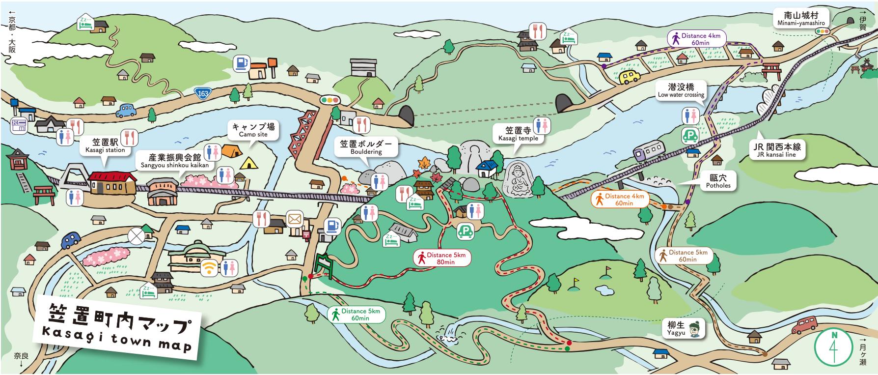 笠置町マップ